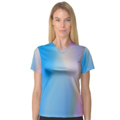 Twist Blue Pink Mauve Background Women s V-Neck Sport Mesh Tee