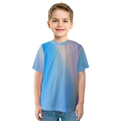 Twist Blue Pink Mauve Background Kids  Sport Mesh Tee