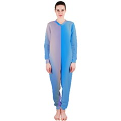 Twist Blue Pink Mauve Background OnePiece Jumpsuit (Ladies)