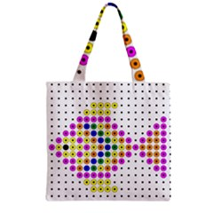 Colored Fish Zipper Grocery Tote Bag