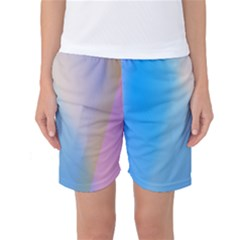 Twist Blue Pink Mauve Background Women s Basketball Shorts