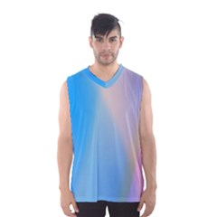 Twist Blue Pink Mauve Background Men s Basketball Tank Top