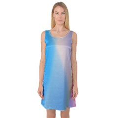 Twist Blue Pink Mauve Background Sleeveless Satin Nightdress