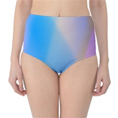 Twist Blue Pink Mauve Background High-Waist Bikini Bottoms