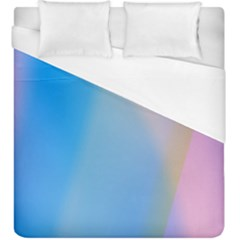 Twist Blue Pink Mauve Background Duvet Cover (King Size)