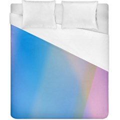 Twist Blue Pink Mauve Background Duvet Cover (California King Size)