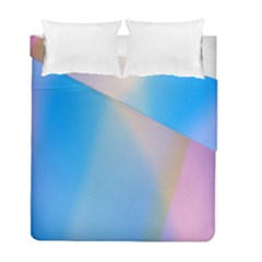 Twist Blue Pink Mauve Background Duvet Cover Double Side (Full/ Double Size)