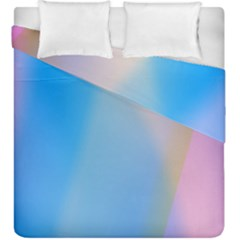 Twist Blue Pink Mauve Background Duvet Cover Double Side (King Size)