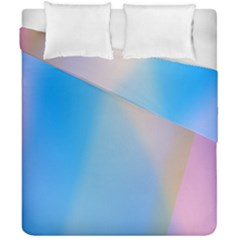 Twist Blue Pink Mauve Background Duvet Cover Double Side (California King Size)
