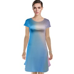 Twist Blue Pink Mauve Background Cap Sleeve Nightdress