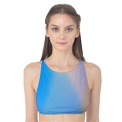 Twist Blue Pink Mauve Background Tank Bikini Top