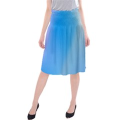 Twist Blue Pink Mauve Background Midi Beach Skirt