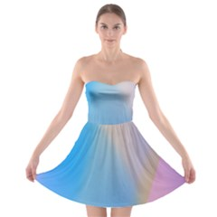 Twist Blue Pink Mauve Background Strapless Bra Top Dress