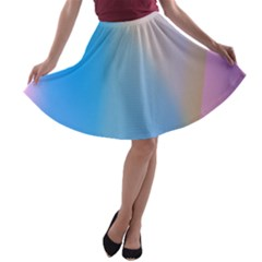 Twist Blue Pink Mauve Background A-line Skater Skirt