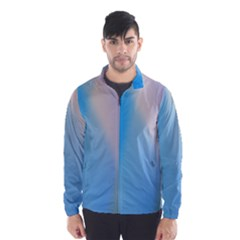 Twist Blue Pink Mauve Background Wind Breaker (Men)