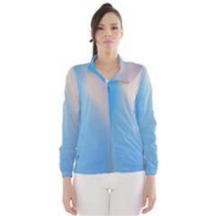 Twist Blue Pink Mauve Background Wind Breaker (Women)