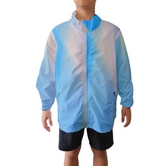 Twist Blue Pink Mauve Background Wind Breaker (Kids)