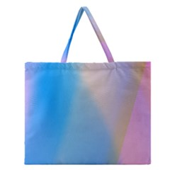 Twist Blue Pink Mauve Background Zipper Large Tote Bag