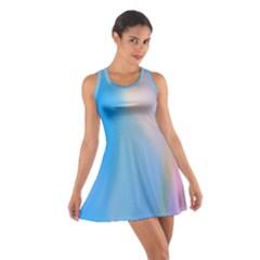 Twist Blue Pink Mauve Background Cotton Racerback Dress