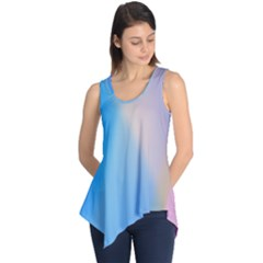 Twist Blue Pink Mauve Background Sleeveless Tunic