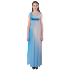 Twist Blue Pink Mauve Background Empire Waist Maxi Dress