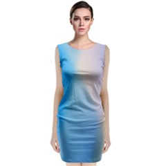 Twist Blue Pink Mauve Background Classic Sleeveless Midi Dress