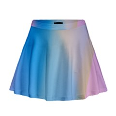 Twist Blue Pink Mauve Background Mini Flare Skirt
