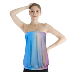Twist Blue Pink Mauve Background Strapless Top