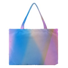Twist Blue Pink Mauve Background Medium Tote Bag
