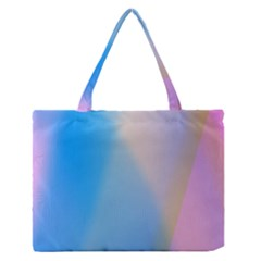 Twist Blue Pink Mauve Background Medium Zipper Tote Bag