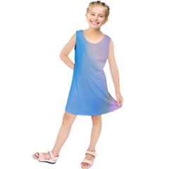 Twist Blue Pink Mauve Background Kids  Tunic Dress