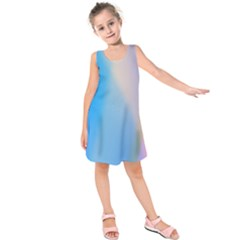 Twist Blue Pink Mauve Background Kids  Sleeveless Dress