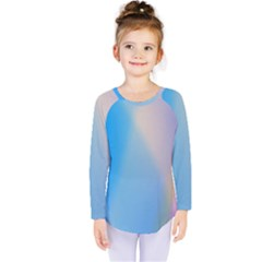 Twist Blue Pink Mauve Background Kids  Long Sleeve Tee