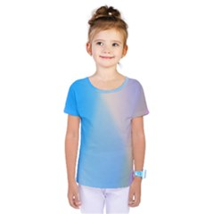 Twist Blue Pink Mauve Background Kids  One Piece Tee