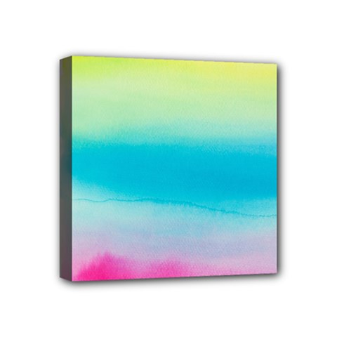 Watercolour Gradient Mini Canvas 4  x 4