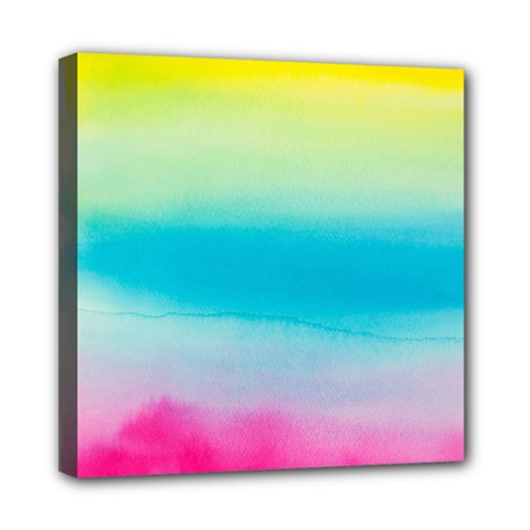 Watercolour Gradient Mini Canvas 8  x 8