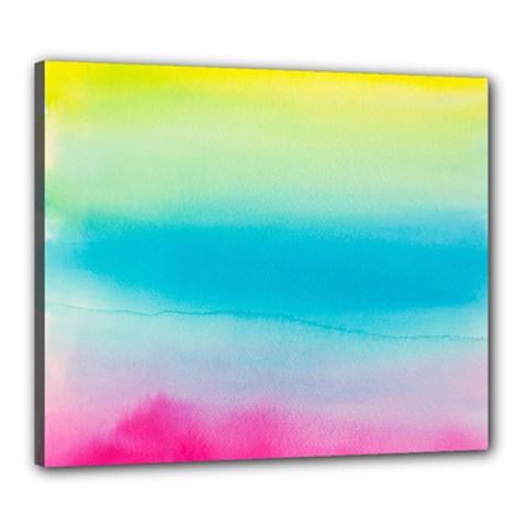 Watercolour Gradient Canvas 24  x 20