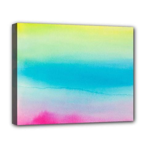Watercolour Gradient Deluxe Canvas 20  x 16