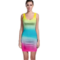Watercolour Gradient Sleeveless Bodycon Dress