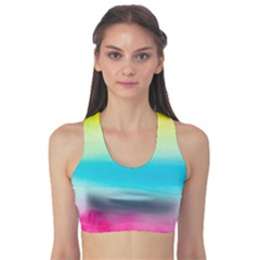 Watercolour Gradient Sports Bra