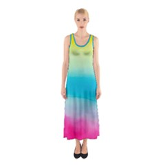 Watercolour Gradient Sleeveless Maxi Dress
