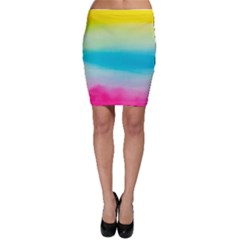 Watercolour Gradient Bodycon Skirt