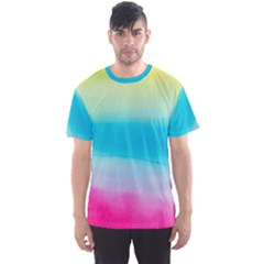 Watercolour Gradient Men s Sport Mesh Tee
