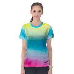 Watercolour Gradient Women s Sport Mesh Tee