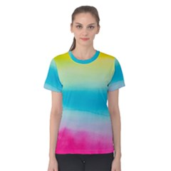 Watercolour Gradient Women s Cotton Tee