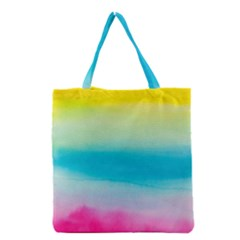 Watercolour Gradient Grocery Tote Bag