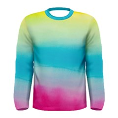 Watercolour Gradient Men s Long Sleeve Tee