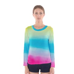 Watercolour Gradient Women s Long Sleeve Tee