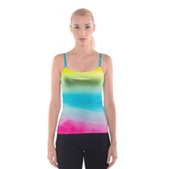 Watercolour Gradient Spaghetti Strap Top