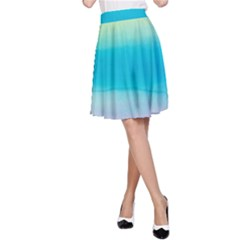 Watercolour Gradient A-Line Skirt